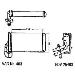 NEU + Wärmetauscher / Heizung Austin / Rover wie Abb. - VW Golf 2 / 3 / Jetta 2 / Vento 19 / 1H0 - VW Passat /