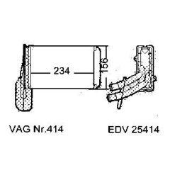 NEU + Wärmetauscher / Heizung VW Passat / Bora 35i / B4 Rechtslenker - VW Golf 2 / 3 / Jetta 2 / Vento 19 / 1H