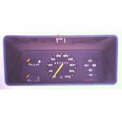 Armaturen Einsatz Opel Kadett D Display weiß 200 km/h / Tacho / Tank Anzeige / Temperatur Anzeige - GM / Opel