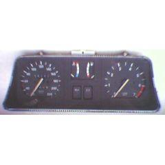 Armaturen Einsatz Opel Kadett E Display weiß 220 km/h / Tacho / Tank Anzeige / Temperatur Anzeige / Tageszähle