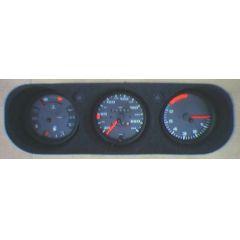 Armaturen Einsatz Porsche 924 / 944 Display weiß 240 km/h / Tacho / Tank Anzeige / Temperatur Anzeige / Drehza
