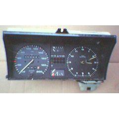 Armaturen Einsatz VW Golf 2 / Jetta 2 Display weiß 200 km/h / Tacho / Tank Anzeige / Temperatur Anzeige / Tage