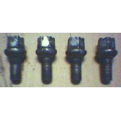 4 Felgenschrauben 14 x 1.5 x 25.5 / SW 17 VW / Audi / Seat / Skoda - gebraucht