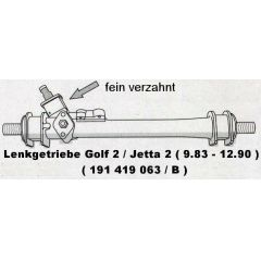 Lenkgetriebe Seat Toledo 19 .1 feinverzahnt - 9.xx - 8.xx - VW Golf 2 / Jetta 2 19 .1 feinverzahnt - VAG / VW