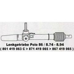 Lenkgetriebe Audi 50 86 - 9.73 - 8.76 - VW Polo / Derby 86 / 86C - 9.75 - 8.94 - Seat Ibiza - 86C - Modelle oh