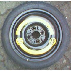 Notrad T 105 / 70 D 14 Michelin X 3.5 x 14 / ET 45 / 4 L - Felge mit Reifen - gebraucht