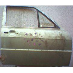 Tür Audi 80 / 90 81 / 85 / Q 4T / VR vorgesehen für Ausstellfenster inaris silber met. - 9.78 - 8.86 - Seltene