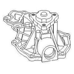 NEU + Wasserpumpe VW Scirocco 1 / Jetta 1 16 / 17 / 53 - 9.73 - 8.81 - VW Passat / Santana 32 / 33 / 32B - 9.7