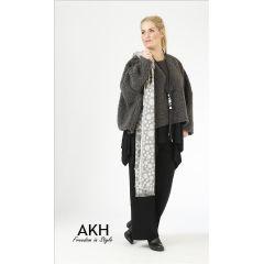 AKH Fashion Lagenlook Pullover grau