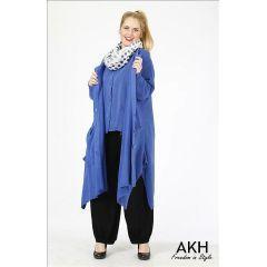 AKH Fashion Strickmantel Lagenlook für Übergrößen