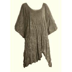 Barbara Speer Shirt taupe Lagenlook Übergrößen