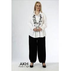 AKH Fashion Lagenlook Bluse aus Baumwolle