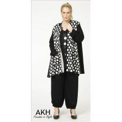 Lagenlook Jacke kleine Punkte - AKH Fashion