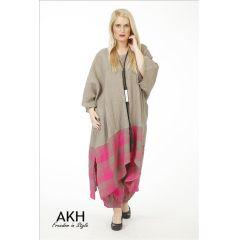 AKH Fashion Leinen-Tunika pink Übergröße