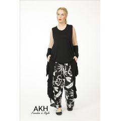 AKH Fashion Lagenlook Hose mit Leinen