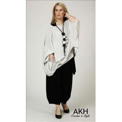 Lagenlook Pullover hellgrau AKH Fashion