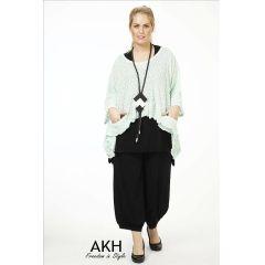 Lagenlook Pullover mint überweit AKH Fashion