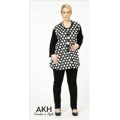 Lagenlook Shirt kleine Punkte AKH Fashion