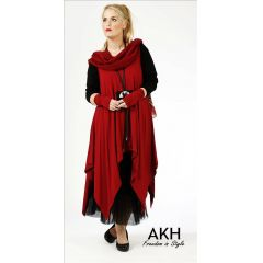 Lagenlook Tunika dunkelrot XL XXL AKH Fashion