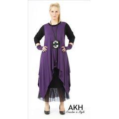 Lagenlook Tunika lila XL XXL AKH Fashion