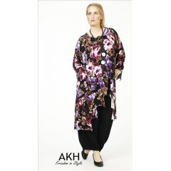 Lagenlook Tunika lila gezackt AKH Fashion