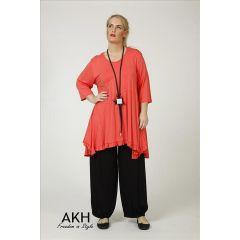 Lagenlook Tunika-Shirt apricot AKH Fashion
