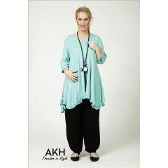 Lagenlook Tunika-Shirt mint AKH Fashion