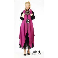 Lagenlook Tunika violett XL XXL AKH Fashion