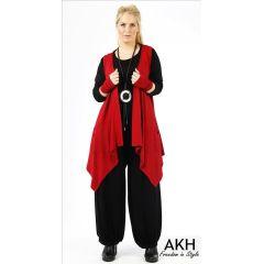 Lagenlook Weste dunkelrot AKH Fashion