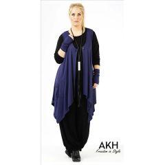 Lagenlook Weste nachtblau AKH Fashion