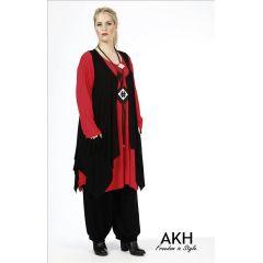 Lagenlook Weste schwarz AKH Fashion