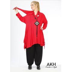 Lagenlook Shirt mit Zipfelkapuze AKH Fashion