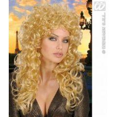 Perücke Lockenperücke blond (Erwachsene) - Karneval Fasching