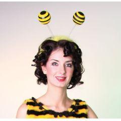 Kopfbügel mit Bienenfühlern - Flotte Biene - Kostümzubehör