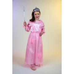 Kinderkostüm - Prinzessin Selina - rosa Kleid - Gr. 104 - 116