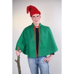 Kostüm - Umhang - grüner Zwergenumhang - Cape - Einheitsgröße