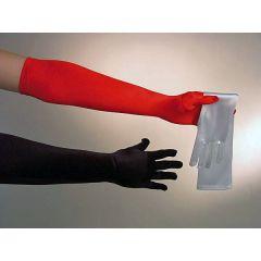 Handschuhe lang - Satinhandschuhe - rot, weiß oder schwarz - Karneval