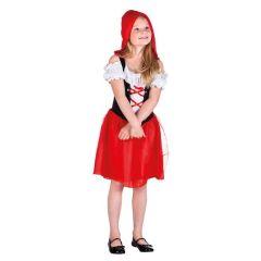 Kinderkostüm - Rotkäppchen - Kleid mit Umhang und Kapuze - Märchenfigur