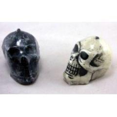 Kerze - Totenkopf groß - schwarz oder weiß