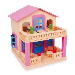Puppenhaus Clara inkl. Puppenmöbel