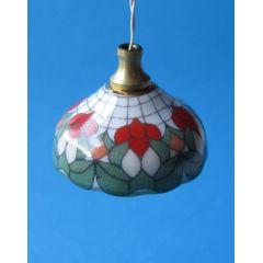 Moderne Hängelampe mit bunten Schirm in Glockenform Miniatur für Puppenhaus