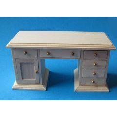 Schreibtisch Naturholz Arbeitszimmer Möbel für die Puppenstube 1:12