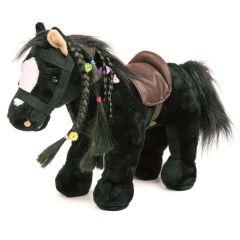 Pony Linda schwarz frisierbar 40 cm Geräusche weiche liebenswerte Kuscheltiere