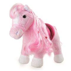 Pony Rosa gross frisierbar 38 cm Geraeusche kuschelweiches Plüschtier