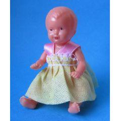 Baby Puppe 6 cm für die Puppenstube  Miniaturen