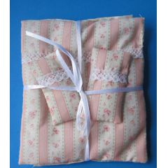 Bettenset Bettwäsche 4 Teile Puppenhaus Dekoration Miniatur 1:12