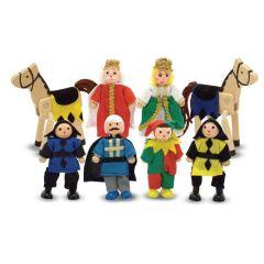 Puppenfamilie Schloss Biegepuppen 6 Puppen und 2 Pferde