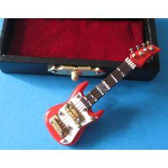 E-Gitarre im Koffer Musik im Puppenhaus Musikinstrumente Dekoration Miniaturen 1:12