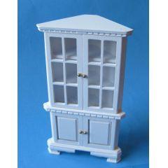Eckschrank Vitrine für Puppenhaus Möbel Miniaturen 1:12