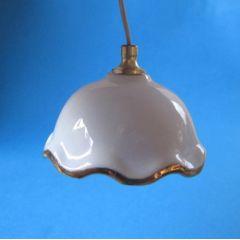 Moderne Hängelampe Porzellanschirm weiss  Miniaturen für Puppenhaus Beleuchtung